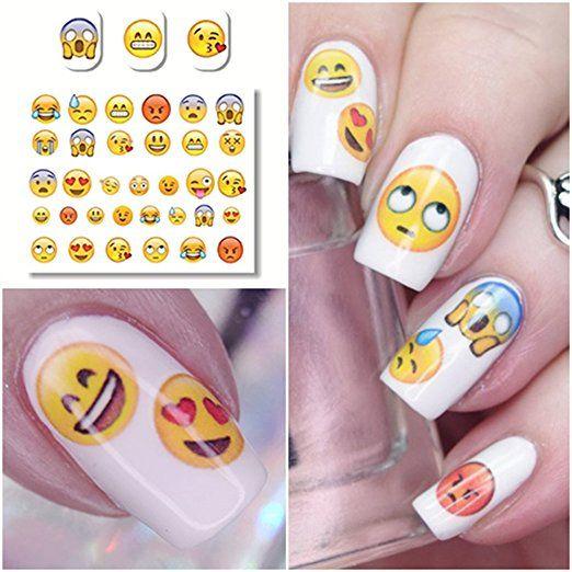 Emoji nail art stickers
