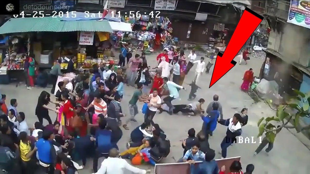 Terremotos Mas Fuertes Del Mundo Grabados Por Camaras De Seguridad Nepal 2015 Terremoto Camaras De Seguridad Tectonica De Placas