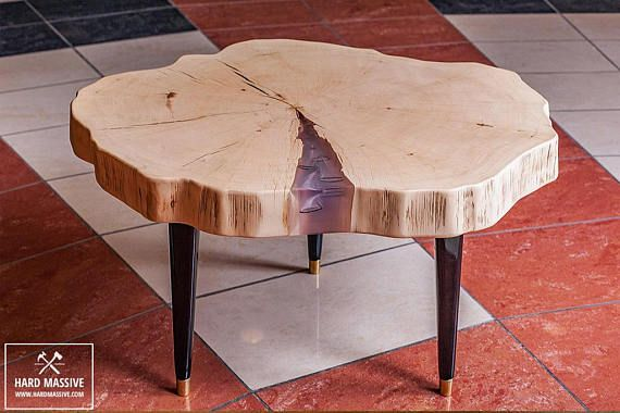 Table Basse Rondin Souche De Table Table Basse Résine оригинальные