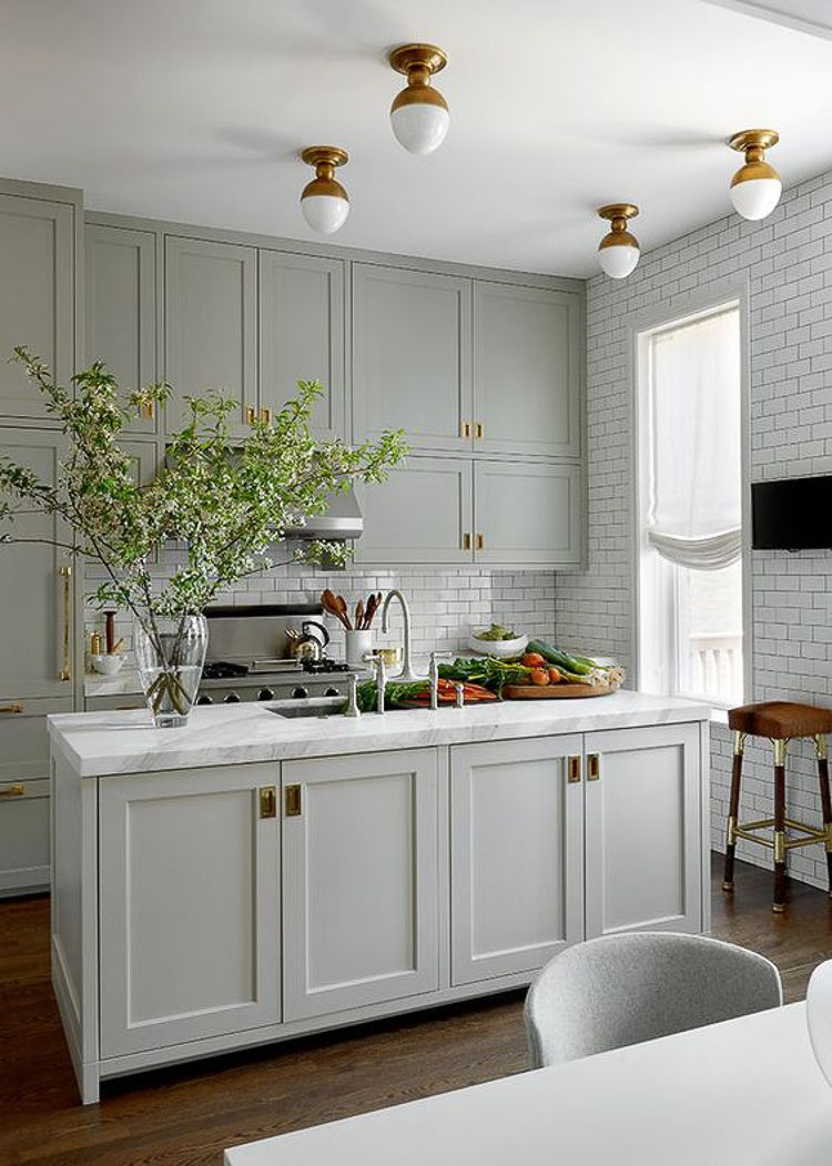 Finally Home Project: Inspiration Photos & Breaking Ground #graycabinets