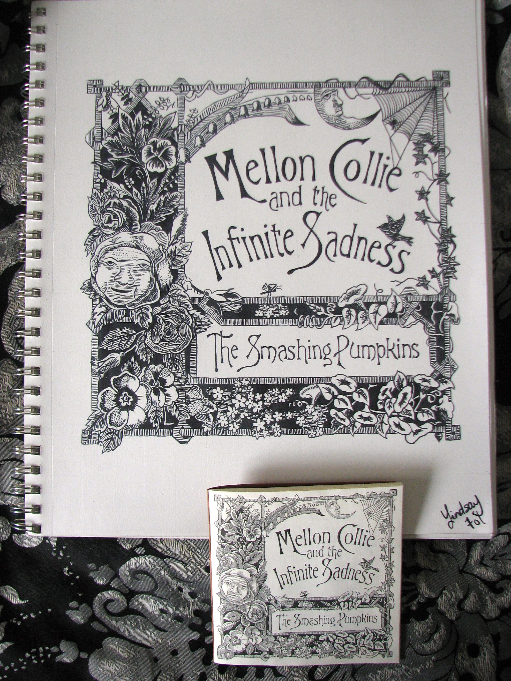 Awesome This Person Copied This Drawing From The Mellon Collie And