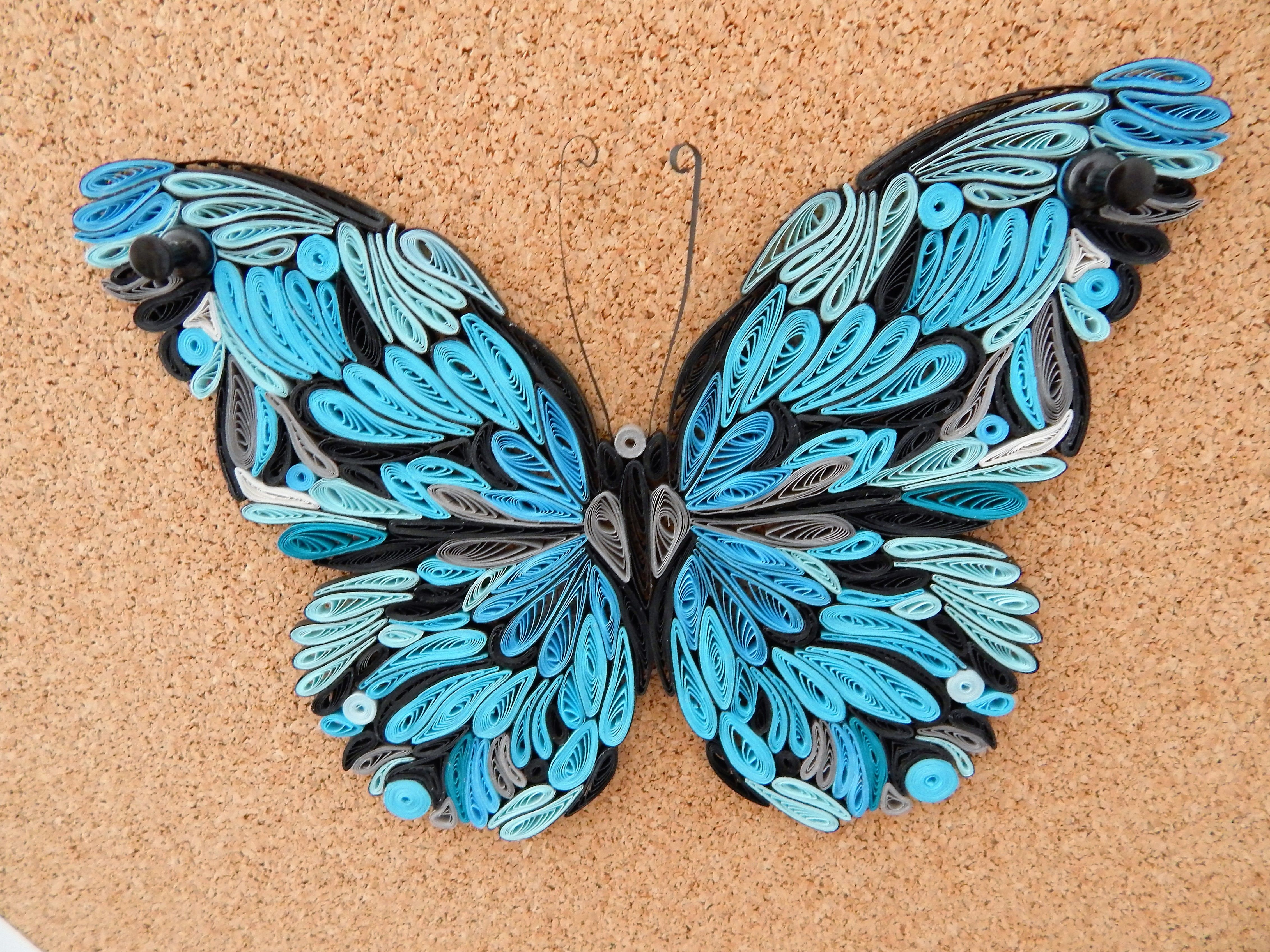 Quilling / Schmetterling Nr.3   Quilling   Pinterest   Quilling ... for Quilling Butterfly Tutorial  111ane