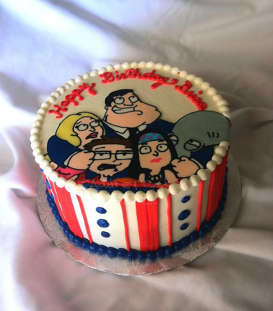 American Dad Tv Show Birthday Cake Dad Cake Dad Birthday Cakes