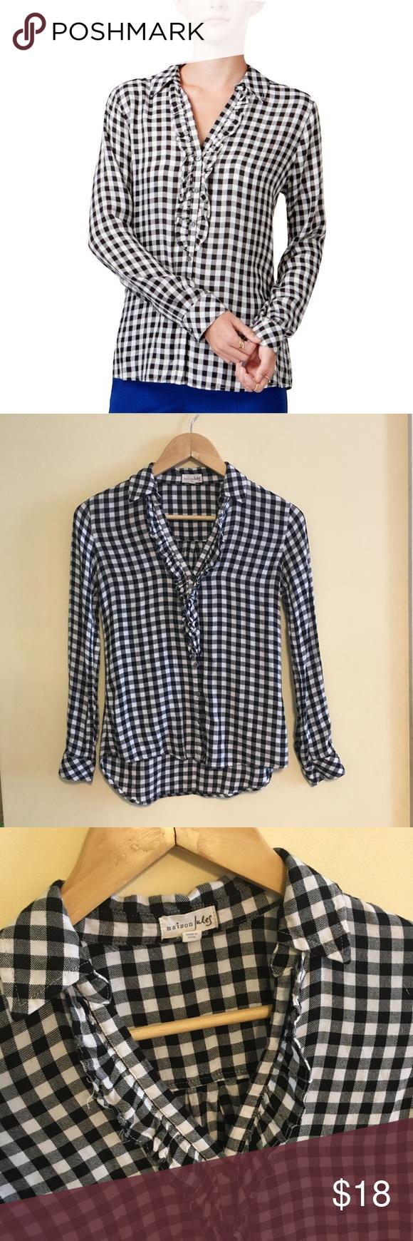 Flannel shirt xs  XS Maison Jules Black u White Check Flannel Shirt  My Posh Picks