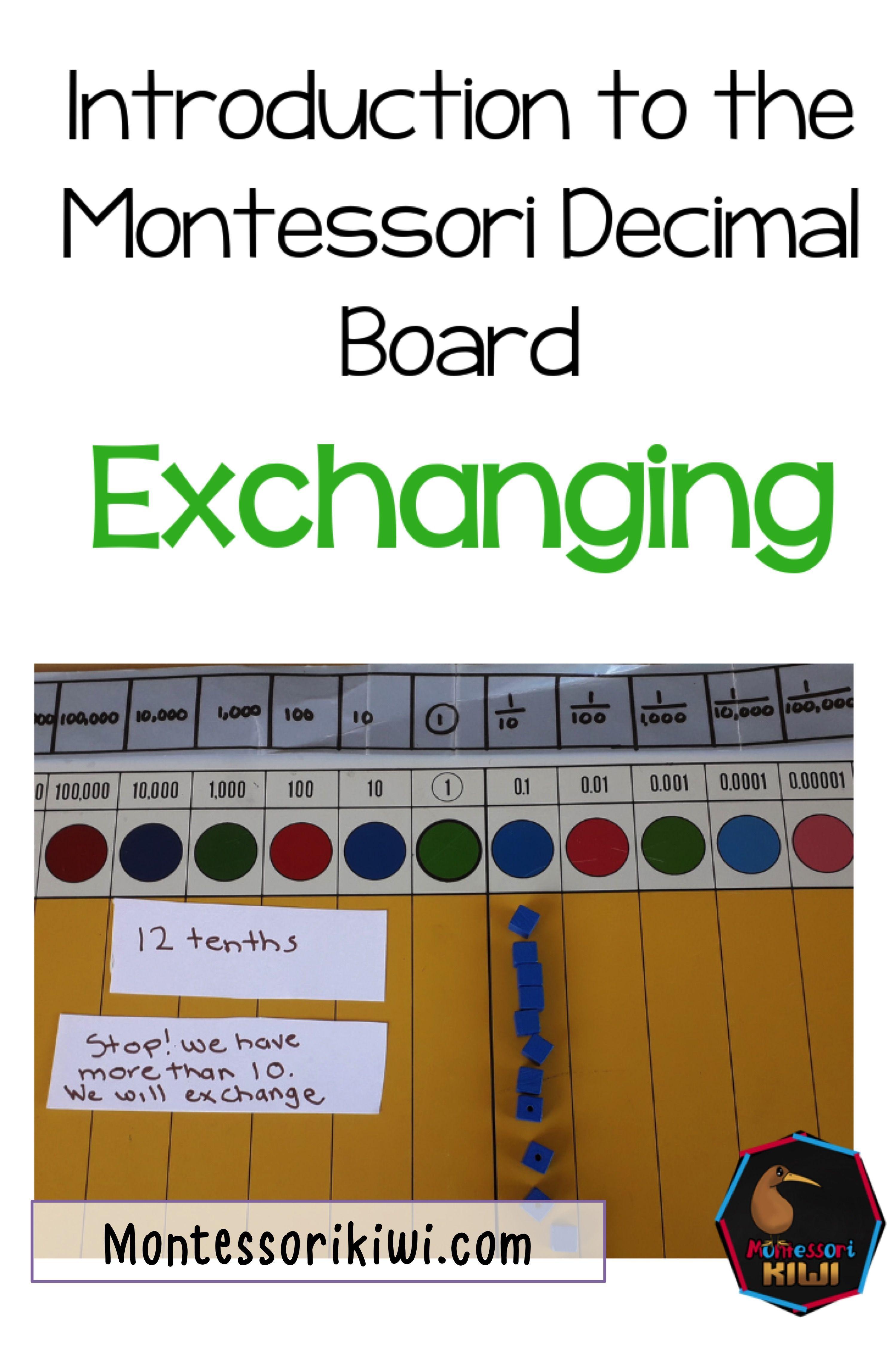 Introduction To The Montessori Decimal Board Part 2