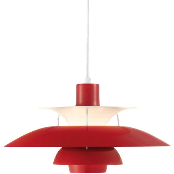 Louis Poulsen Ph50 Pendant Light Chilli Red Gloss 725 Liked On Polyvore Featuring Home Lighting Ceiling Li Pendant Light Pendant Ceiling Lamp Lamp Light