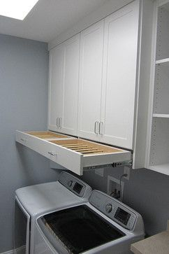 Laundry Room Open Cabinets