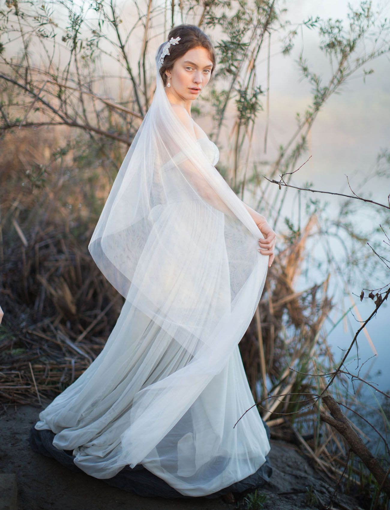 Inspired by nature blue heron wetland wedding inspiration