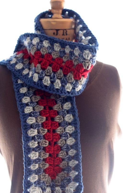 Granny Stripe Scarf Pattern Crochet Or Knit Goodies