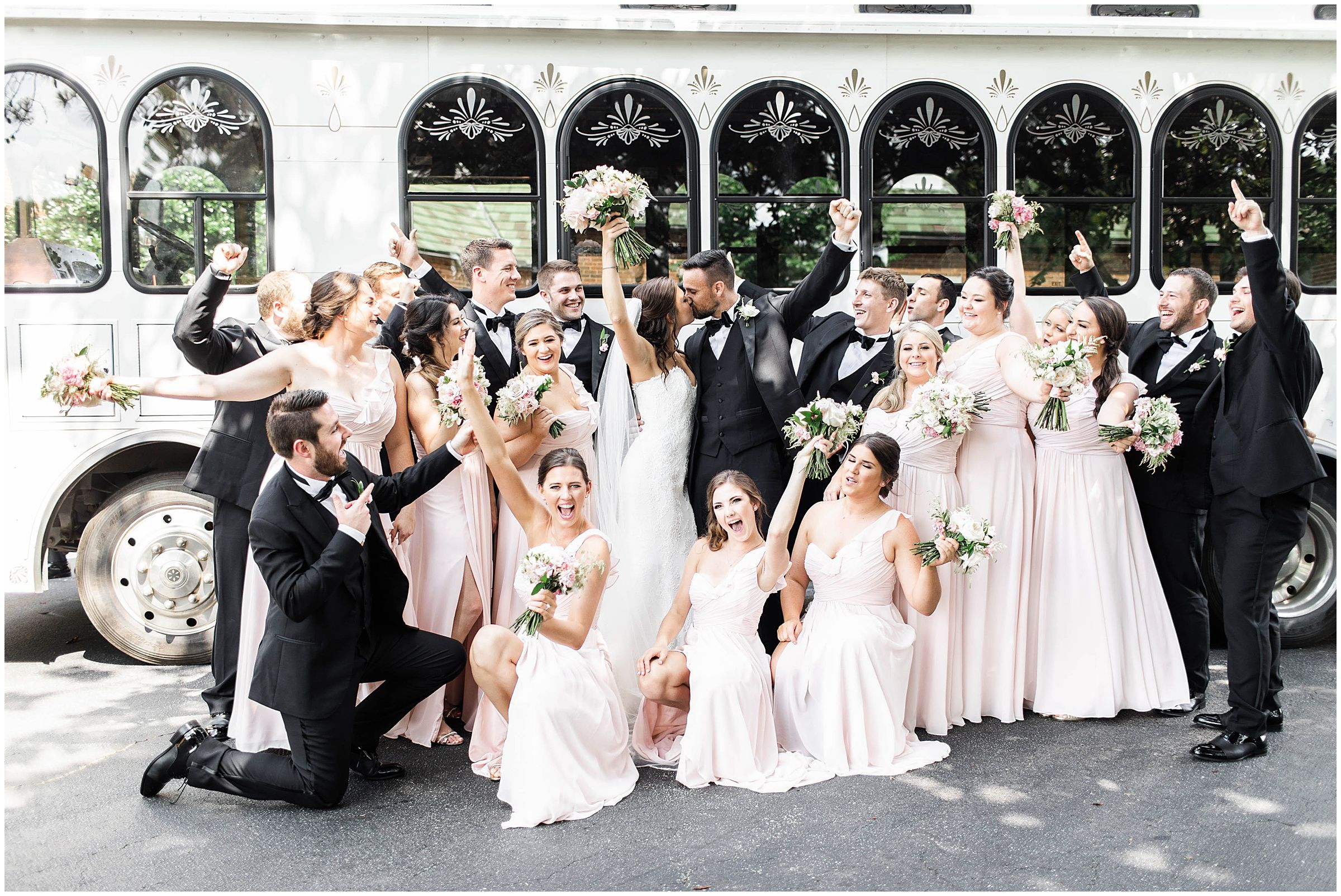 Classic Dunwoody Country Club Wedding With Blush Details And Trolley In 2020 Country Club Wedding Georgia Wedding Venues Bridesmaid Style