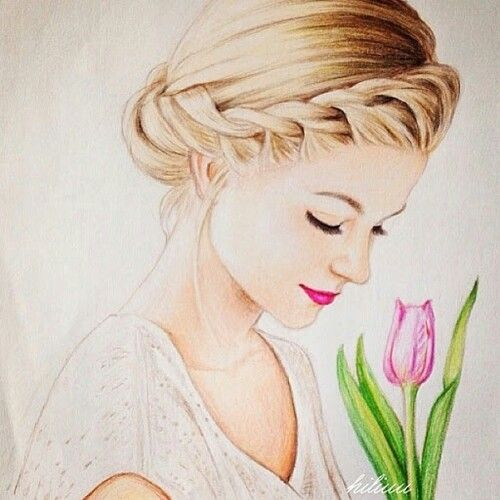 drawing of girl amazing art