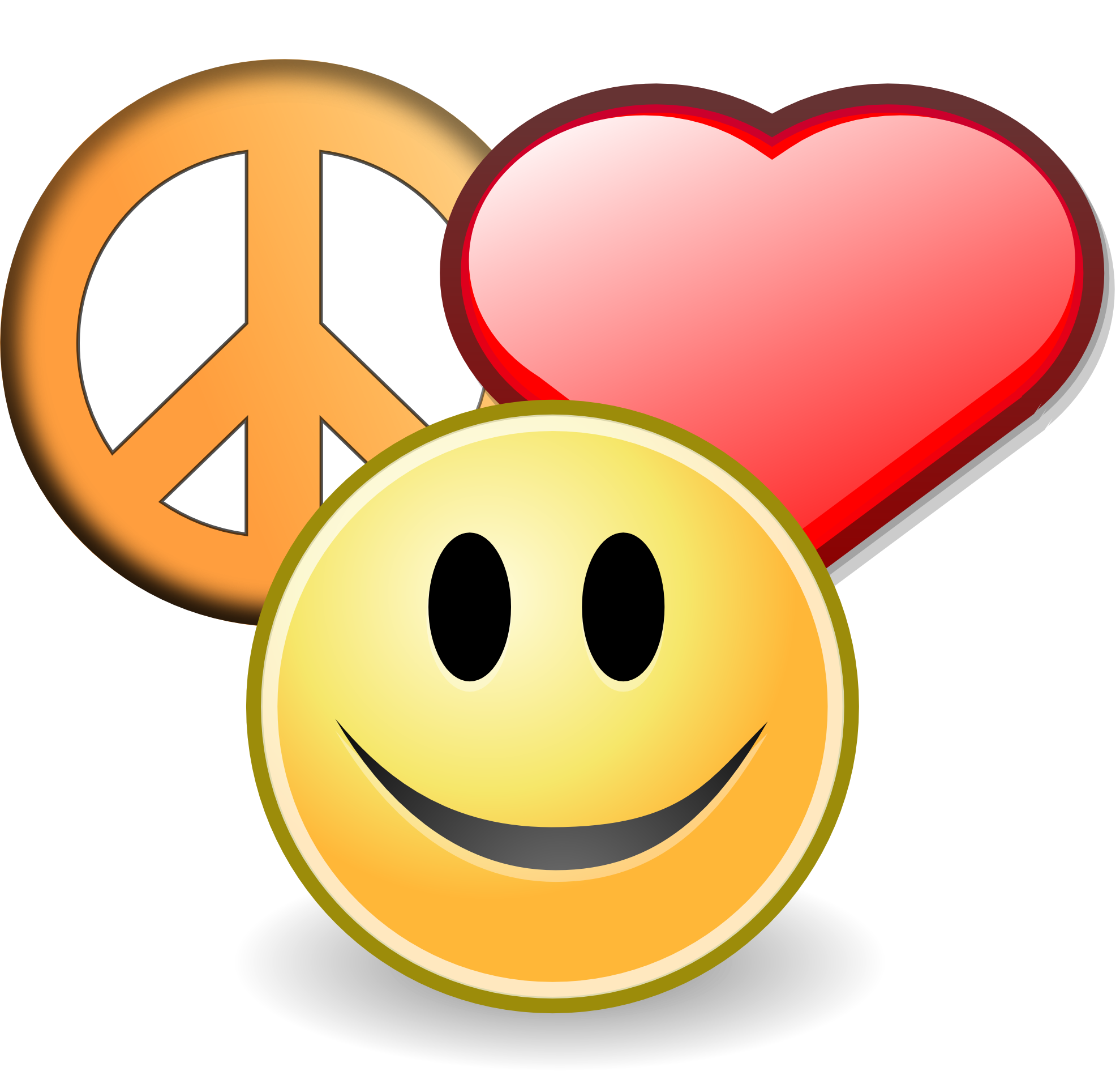 clipartist.net » Clip Art » peace love and happyness christmas ...