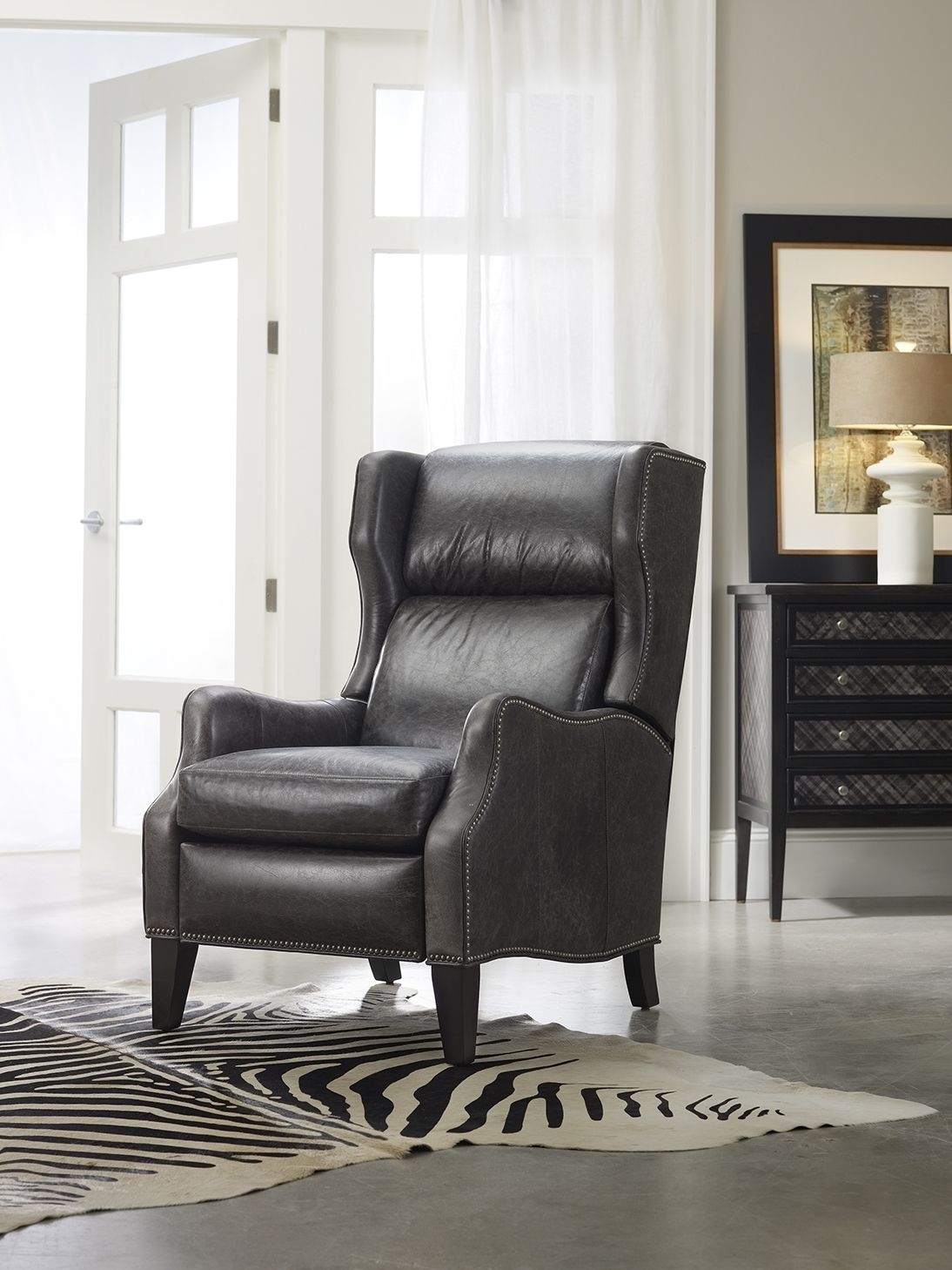 Grey Gorgeous In Grey Is The Vesta Recliner From Bradington Young Furniture New Living Room Lounge Decor