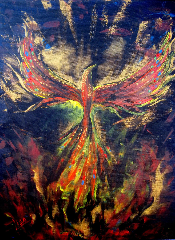 Phoenix Par Svilen And Lisa Phoenix Painting Painting Art