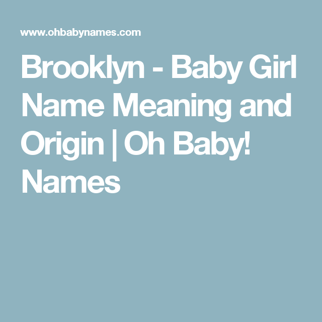 Oh Baby Names Is The Premier Destination And Resource To Discover With Their Meanings Historical Origins There Also Helpful Information