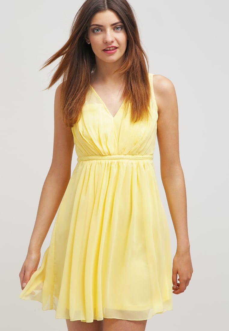 301c2626a4 Robes Vila VICOTINA - Robe d été - pale banana jaune  38