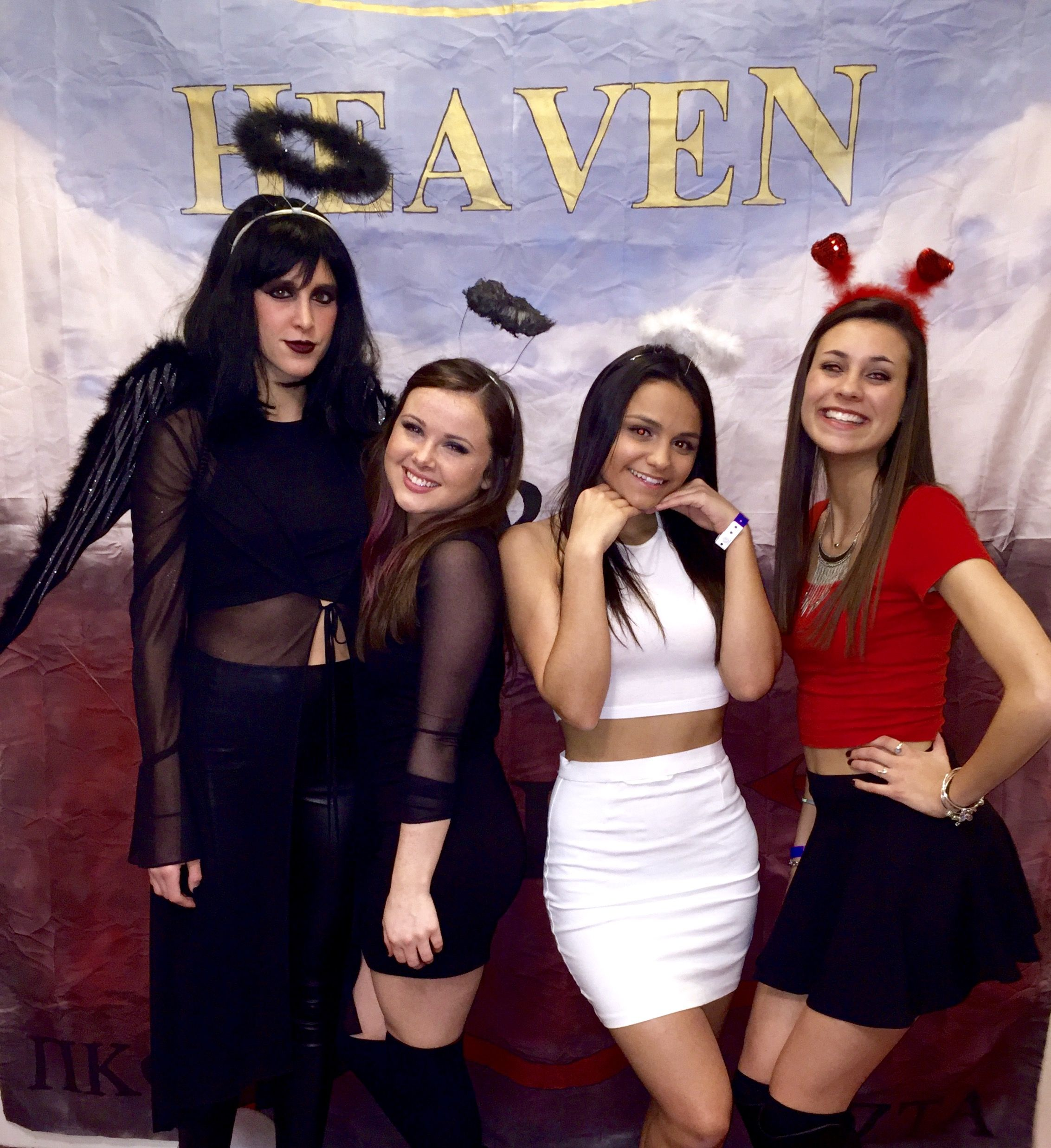 heaven and hell mixer, valentine's day, angel, devil, bad angel