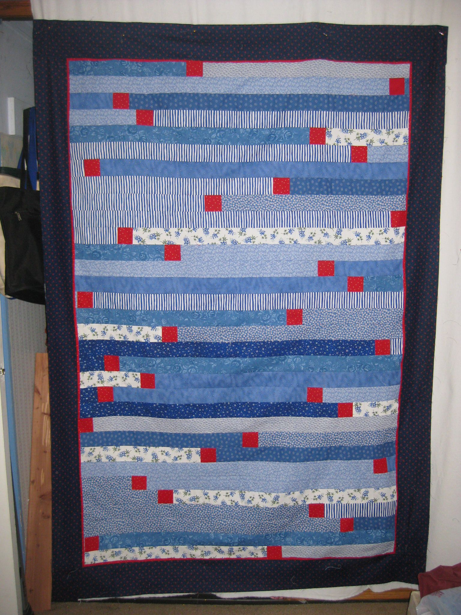 Quilt Pattern Jelly Roll Race : Judy s Jelly Roll Race 1600 Quilt with added Squares Quilts Pinterest Jelly roll race ...