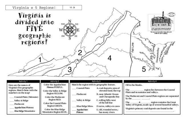 5 Regions Of Va Virginia S 5 Regions Homeschool Social