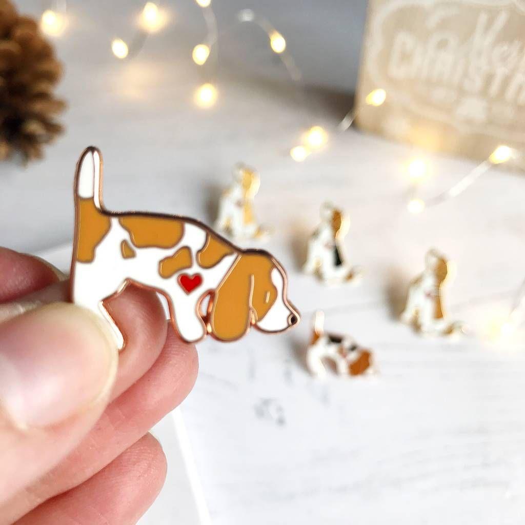 Cute Little Sausage Dog enamel pin badge Christmas Stocking Filler Dachshund