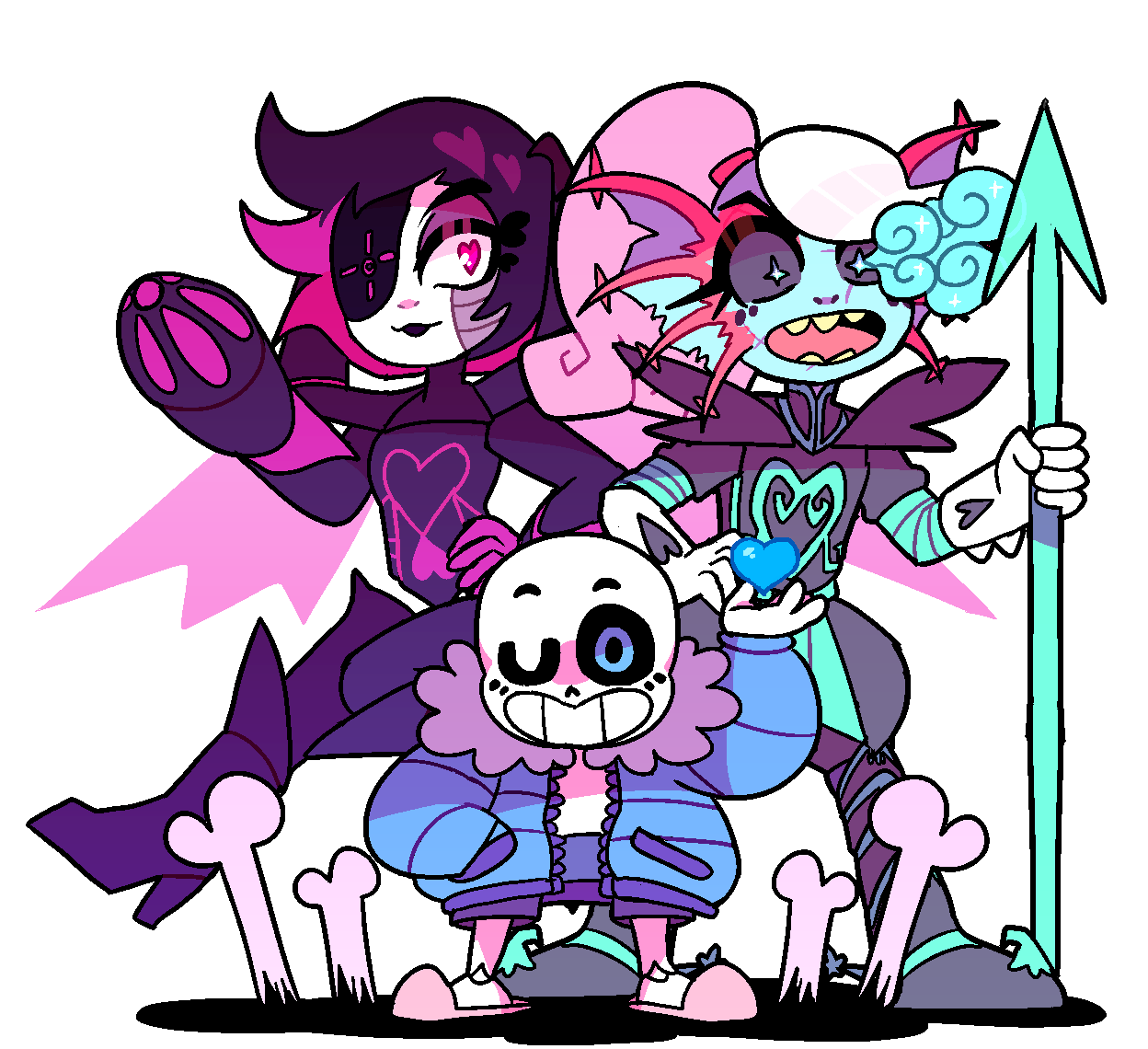 satsuci: ☆ BAD TIME TRIO ☆ || twitter version || separate versions ||