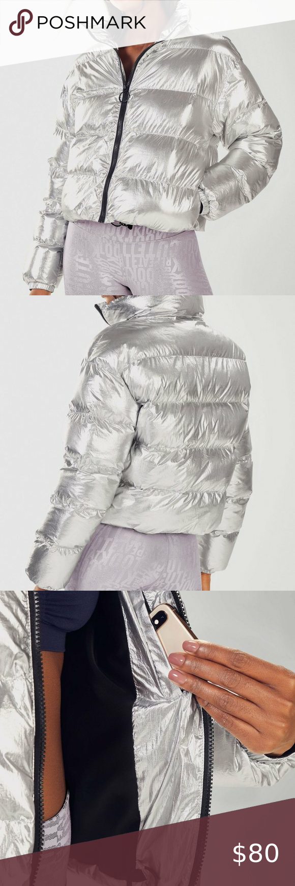 Fabletics Wander Puffer Jacket Fabletics Wander Puffer Jacket In Silver Shine Breathable Coverage With Adjustable Hem S Clothes Design Fashion Design Fashion [ 1740 x 580 Pixel ]