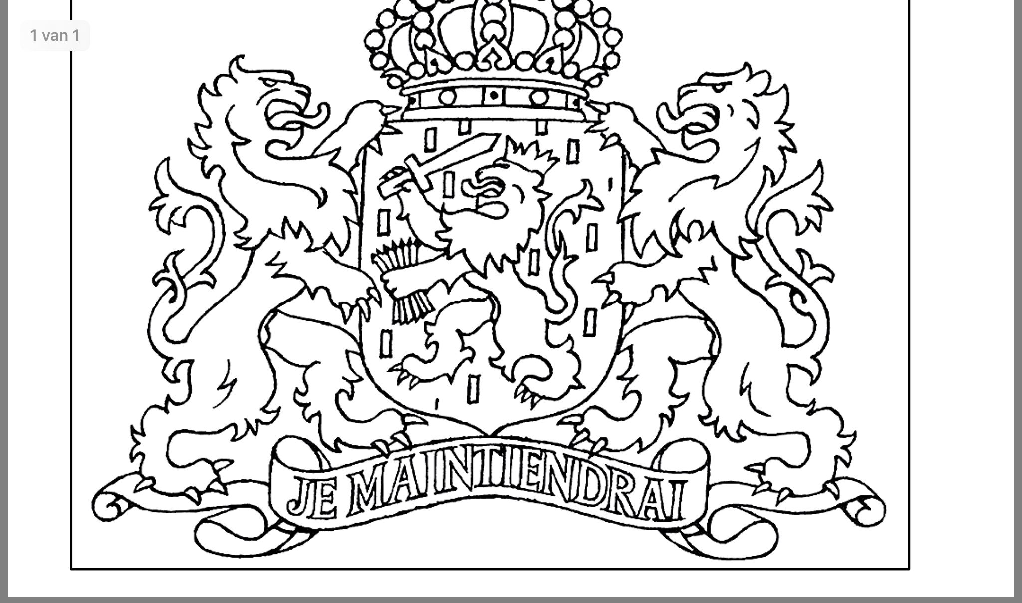 Pin Van Harrie Janssen Op Koningsdag Kleurplaten Wapen