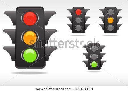 Smooth Traffic Lamp Symbols Stock Vector Traffic Lamp Traffic Traffic Light