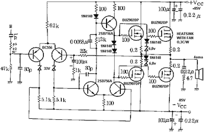 Mosfet Amplifier Circuit for Subwoofer 400W