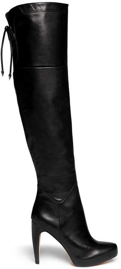 d14320586 Sam Edelman  Kayla  thigh high leather boots on shopstyle.com ...