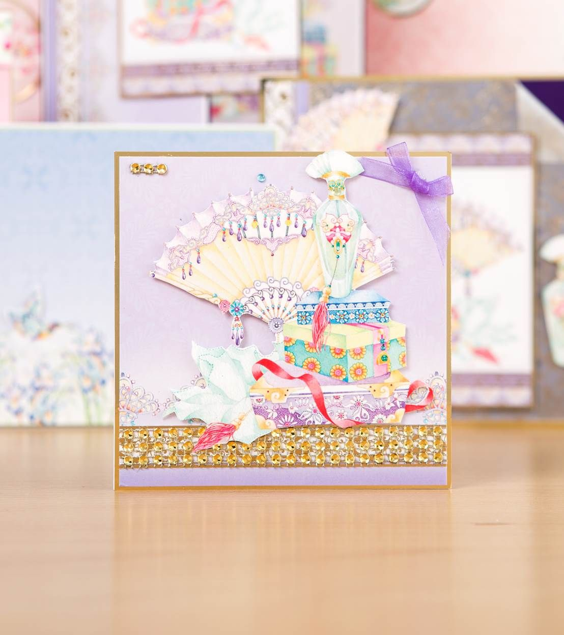 Beautiful card design from the @hunkydorycrafts Eastern Treasures Delight Card Collection. Click 'Visit Site' above to shop now. / Cardmaking / Papercraft / Scrapbooking