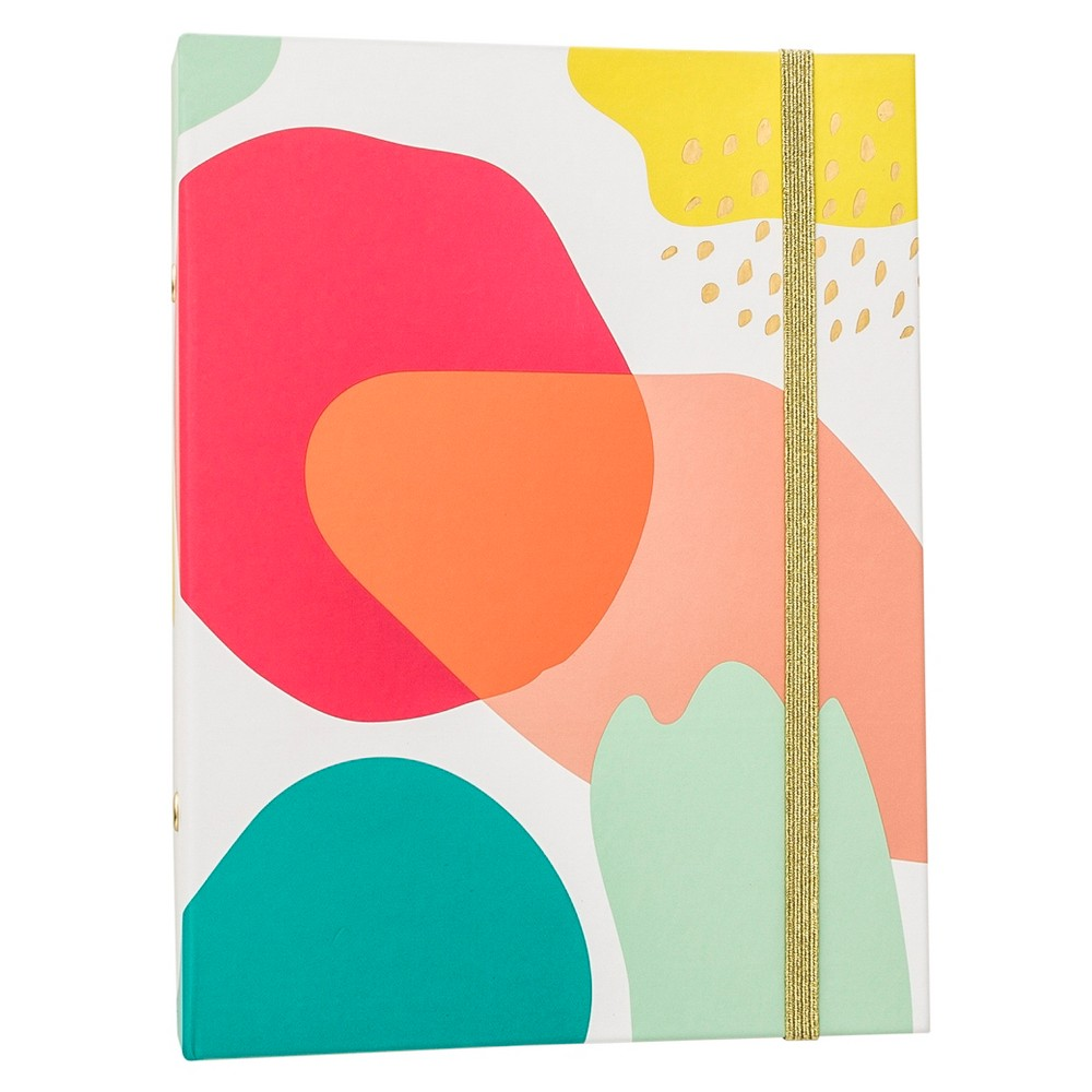 Brit + Co 1 Mini Binder - Paint Splashes