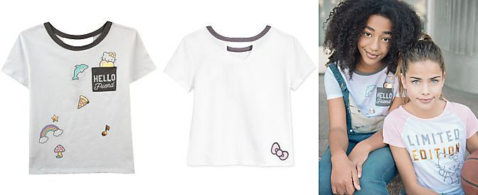 Hello Kitty Graphic Pocket T-Shirt, Big Girls (7-16)