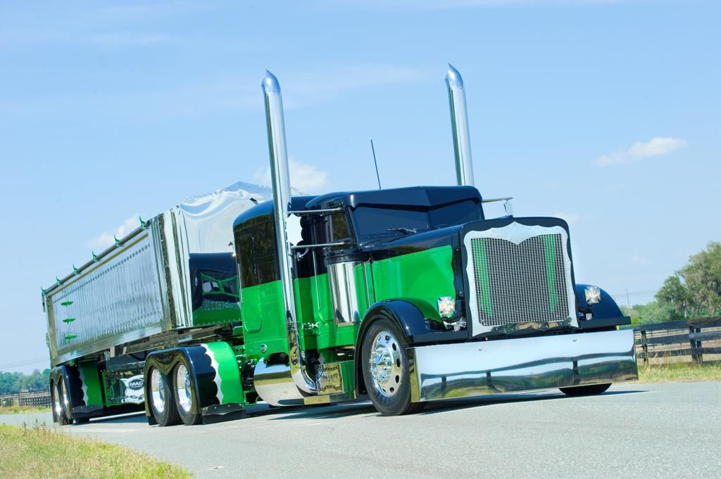 flat top peterbilt show trucks | Peterbilt 379 Custom ...