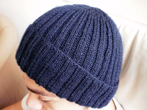 tricoter un bonnet homme explication