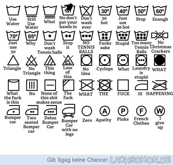 Deciphering Clothing Care Tags Infographic Pinterest Funny
