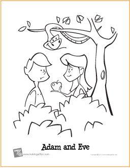 Adam And Eve Garden Of Eden Free Printable Coloring Page Bible Coloring Pages Adam And Eve Bible Coloring