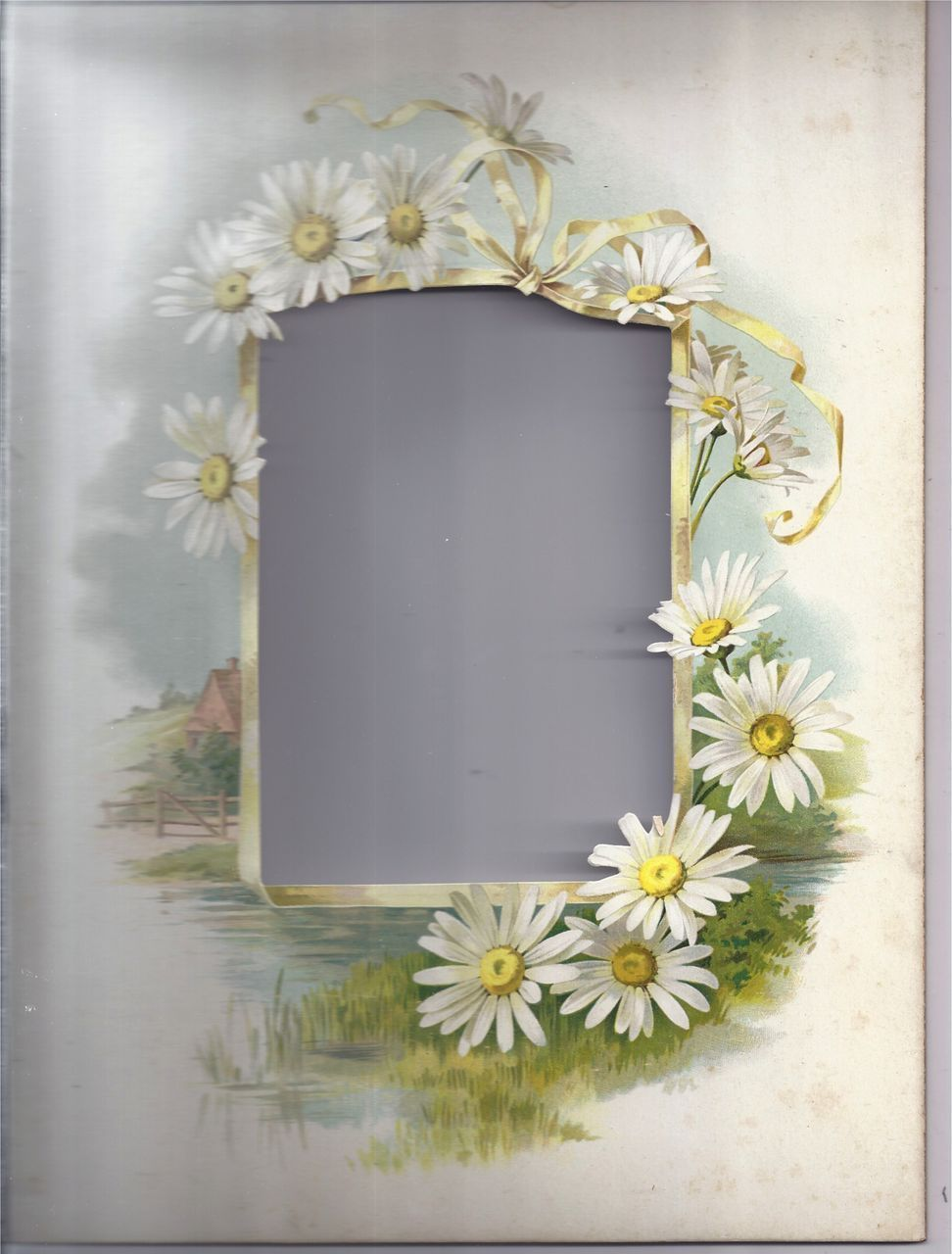 Lovely Page from Victorian Album, Chromolithograph, Die-Cut ...