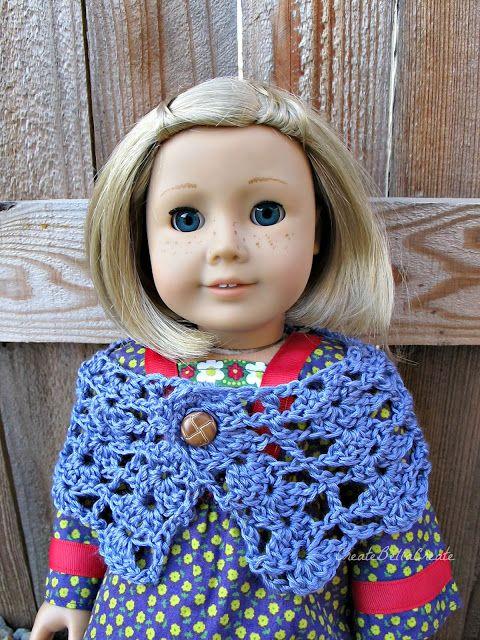 createbellacreate: Crochet Pattern: American Girl Shawl/Wrap free ...