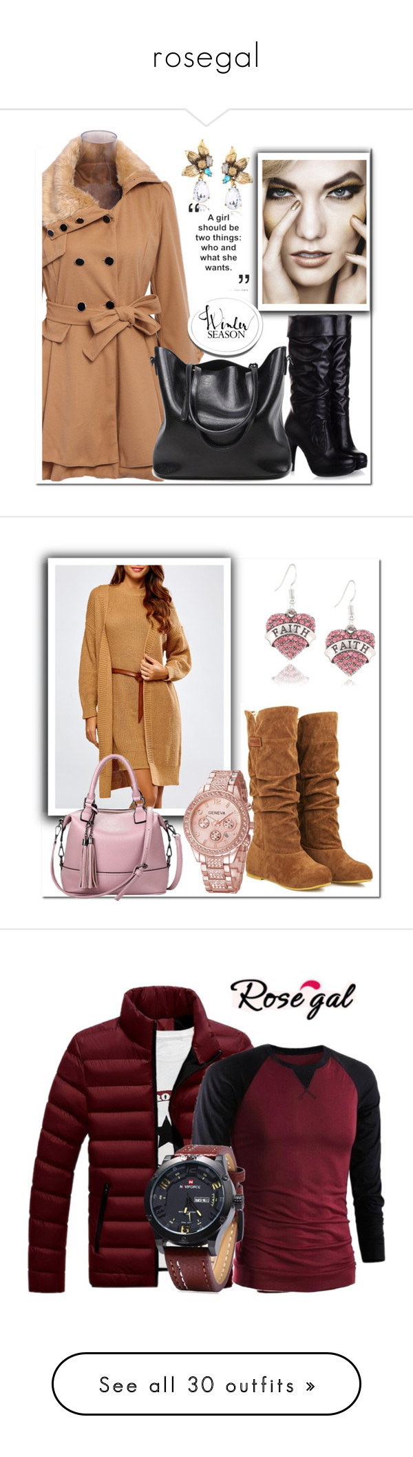 """""""rosegal"""" by melee-879 ❤ liked on Polyvore featuring Winter, casualoutfit, women, men's fashion, menswear, men, vintage, denim, skirt and dress"""