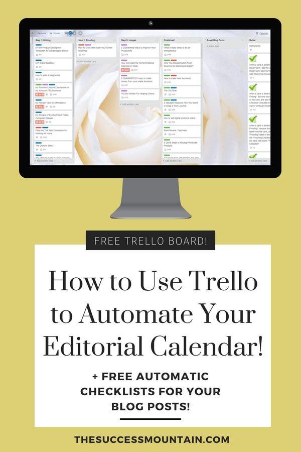 How to Create the PERFECT Editorial Calendar in Trello Free