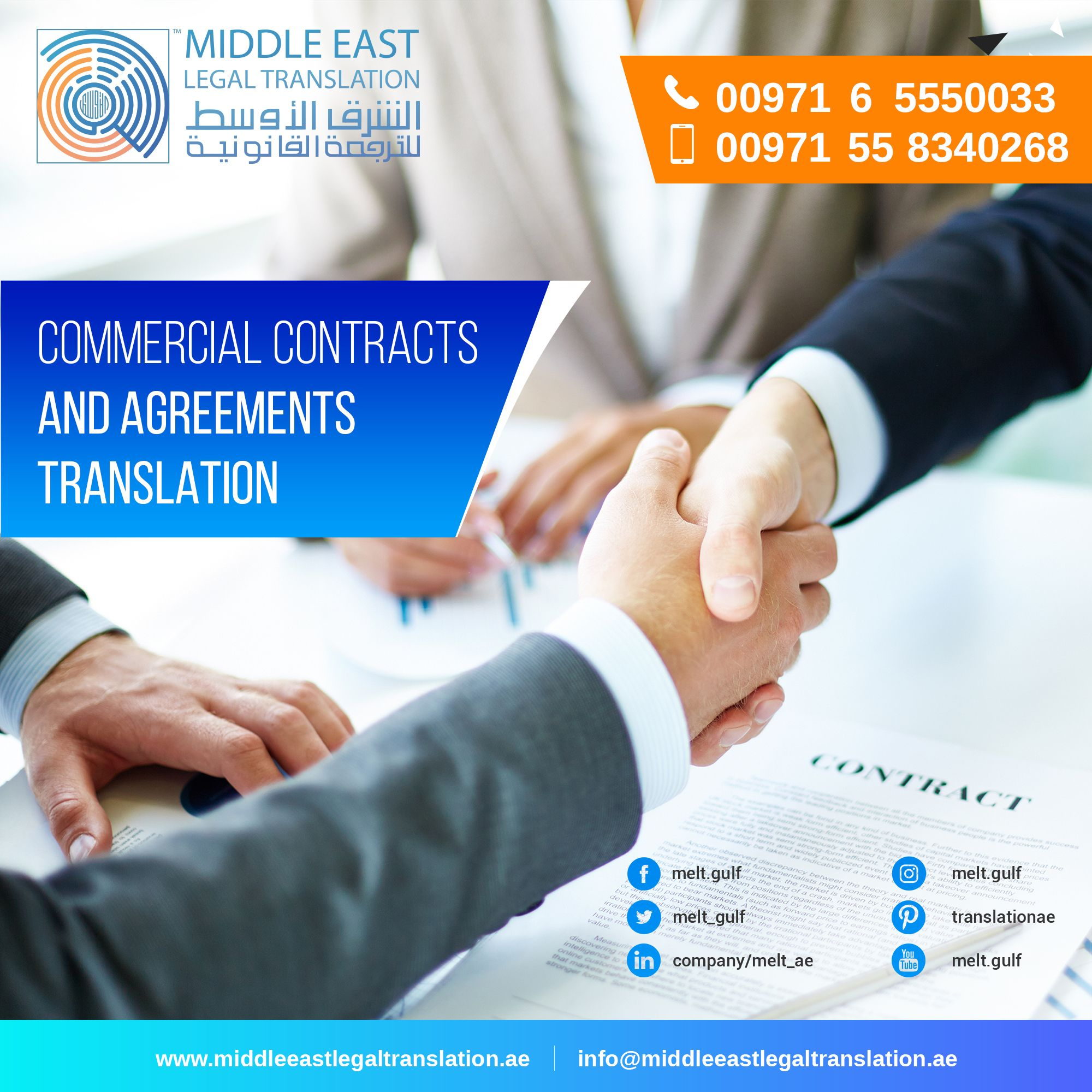 Commercial Contracts And Agreements Translation