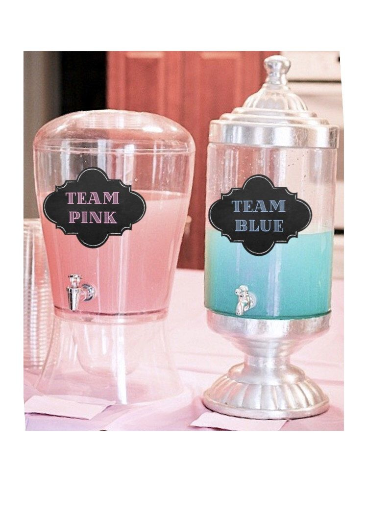 Team Pink Team Blue Gender Reveal - Gender Reveal ideas - Gender Reveal Party Decoration - Gender Reveal Decor - DIY Instant Download