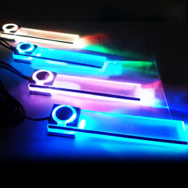 4 x led car interior decorative floor dash light 7 color. Black Bedroom Furniture Sets. Home Design Ideas