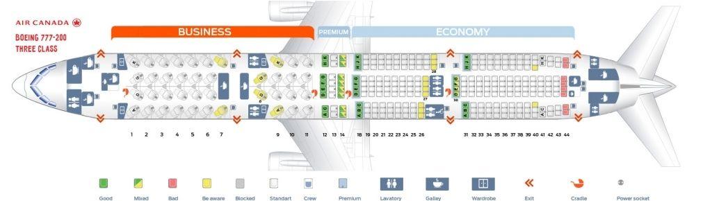 Boeing 777 Seating Plan