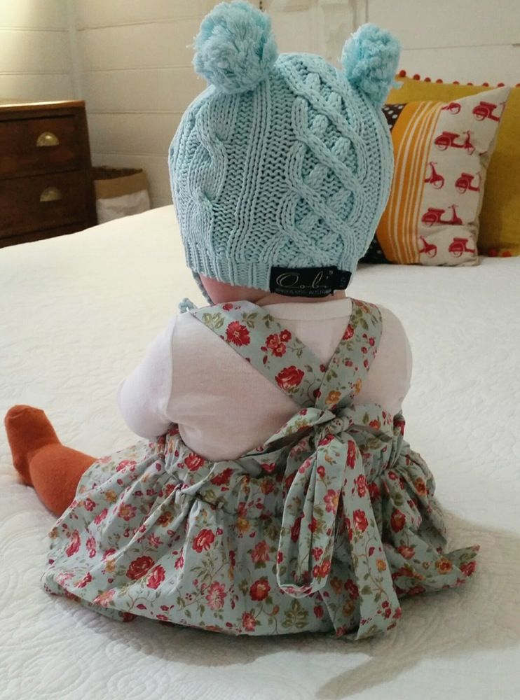 Image of Gracey Suspender Skirt in Baby Blue Floral *PRE-ORDER