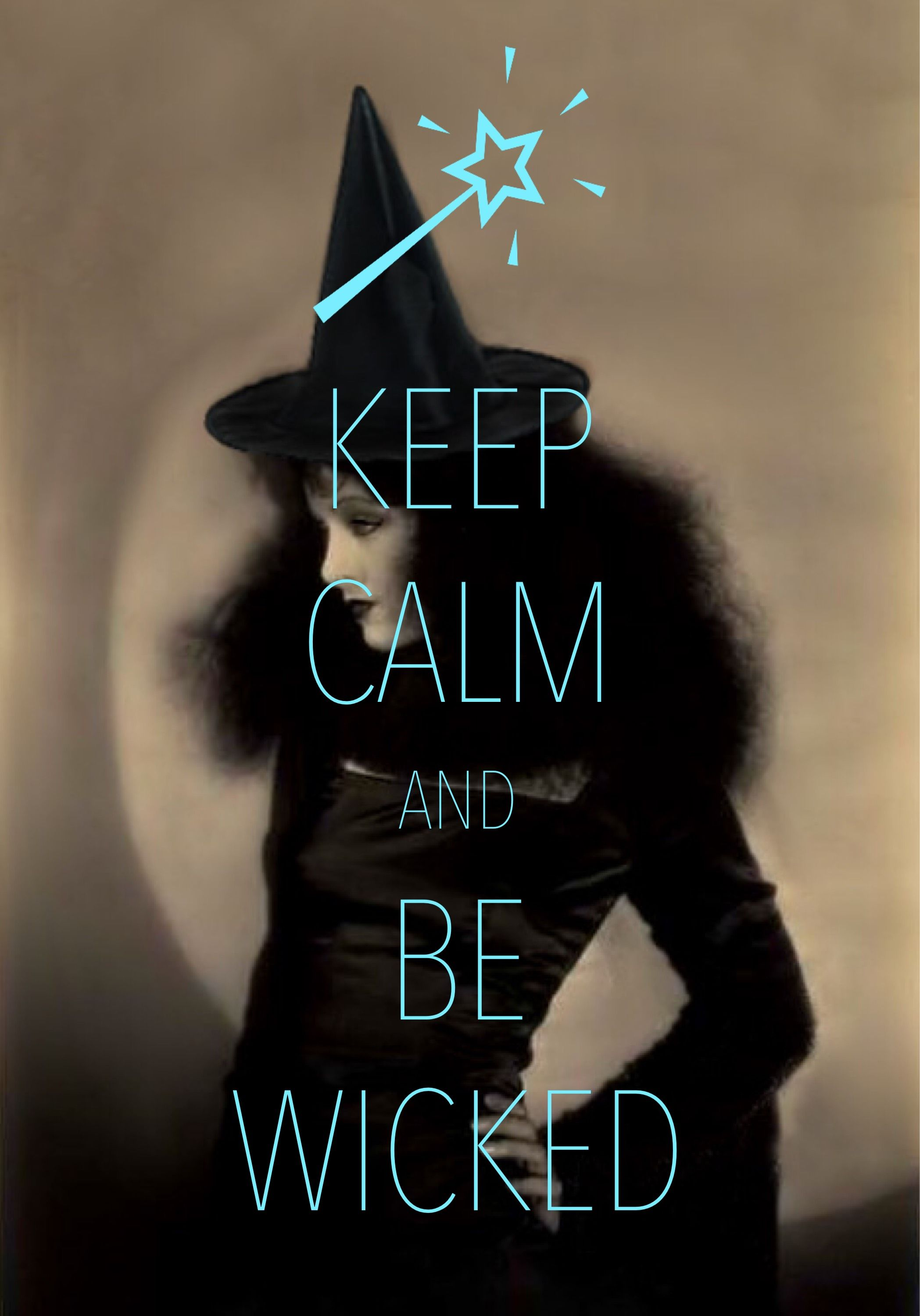 Good Keep Calm And Be Wicked / Created With Keep Calm And Carry On For IOS #