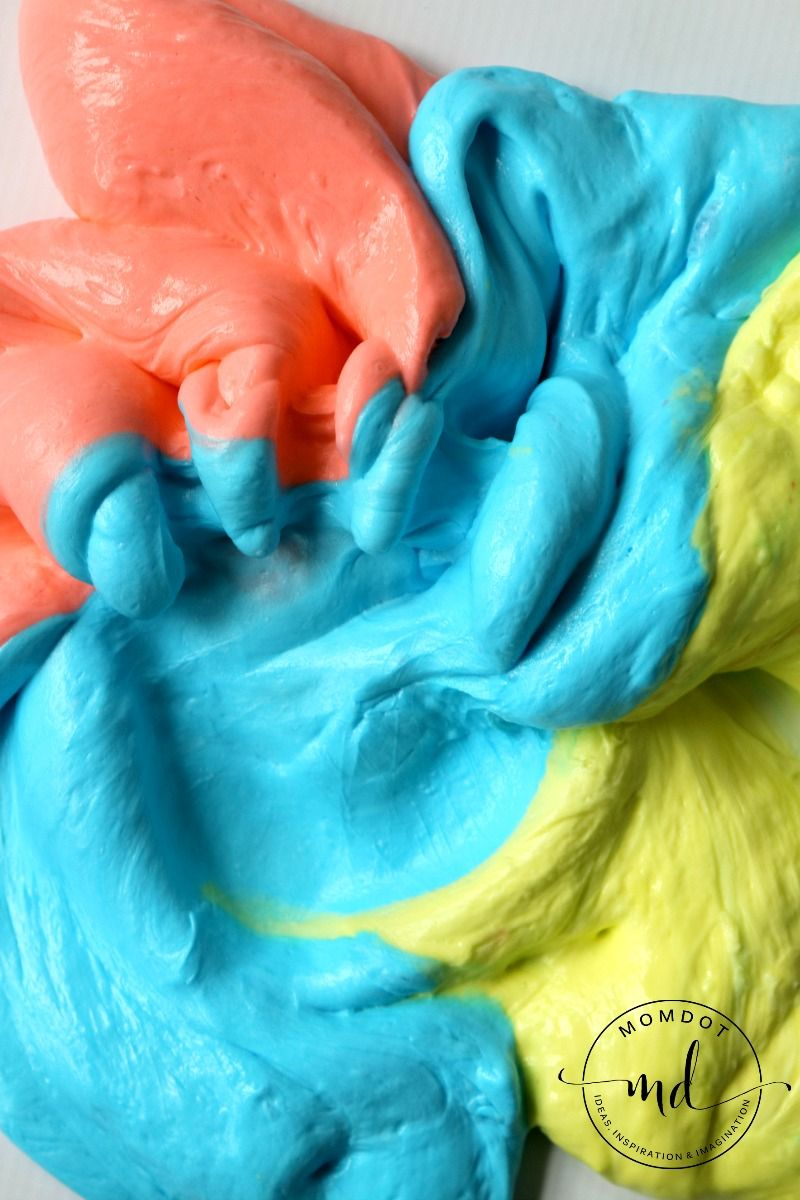 Fluffy Slime 3 Ingredients To Squishy Slime That Retains Shape Flubber
