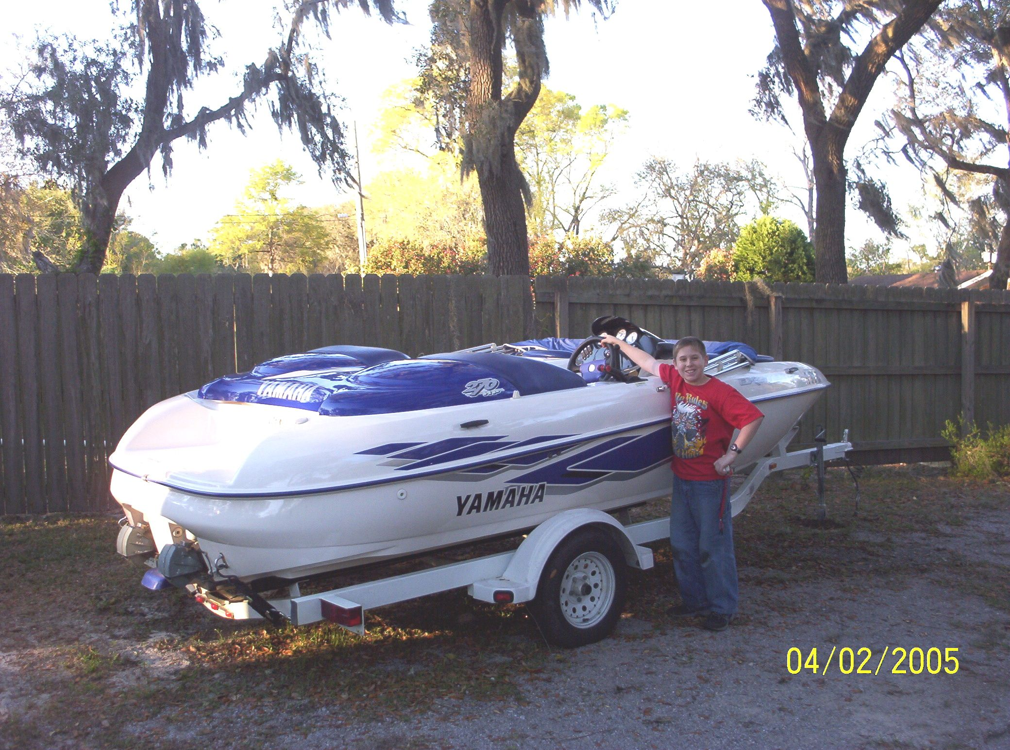 My old boat   Yamaha Exciter 270 hp  Two 135hp two-cycle jet