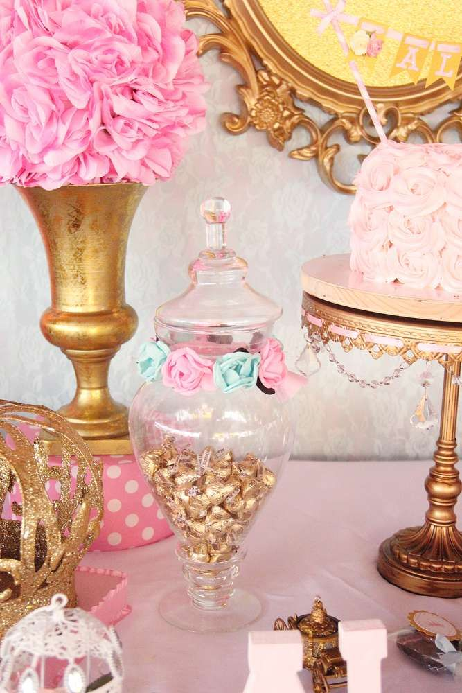 Pink And Gold Princess Birthday Party See More Planning Ideas At CatchMyParty